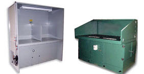 Downdraft tables and downdraft booths for the capture of various metal dusts
